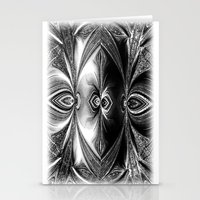 Abstract.White+Black Peacock. Stationery Cards
