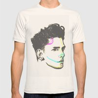 XAVIER DOLAN Mens Fitted Tee Natural SMALL