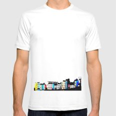 Clifton Colour White Mens Fitted Tee SMALL