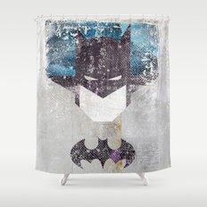 Bat grunge superhero Shower Curtain