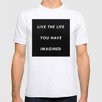 The Life You Have Imagin… Mens Fitted Tee Ash Grey SMALL