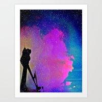 twilight Art Prints featuring Twilight by Angela Pesic