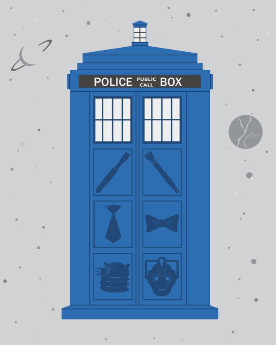 The Tardis Got Some Ink Art Print