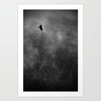 Eagle In Rainforest Mist Art Print