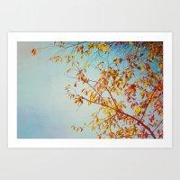 textured leaves. Art Print