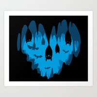 Bats Love Caves Art Print