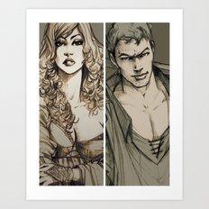 Lancelot and Guinevere Art Print