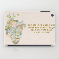 A Traveler's Heart + Quote iPad Case