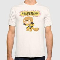 The Incredible Beaverman Mens Fitted Tee Natural SMALL