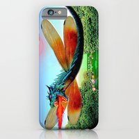 iPhone & iPod Case featuring Dragon fly by JT Digital Art