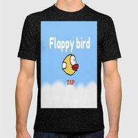 Flappy Bird Mens Fitted Tee Tri-Black SMALL