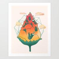 City In Bloom Art Print