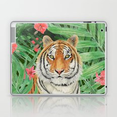 Tiger with flowers Laptop & iPad Skin