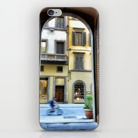 Firenze through a door iPhone & iPod Skin