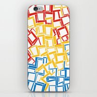 Rectangles In Primary Co… iPhone & iPod Skin