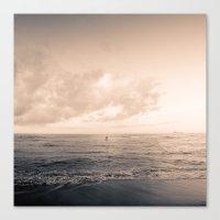 calm day ver.warmblack Canvas Print