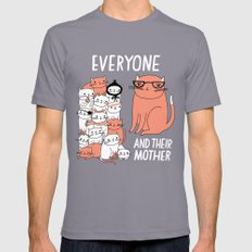 Everyone And Their Mother SMALL Mens Fitted Tee Slate