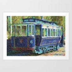 Old tramways VI Art Print
