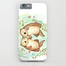 Otters Holding Hands iPhone 6s Slim Case