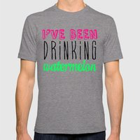 Drinking Watermelon Mens Fitted Tee Tri-Grey SMALL