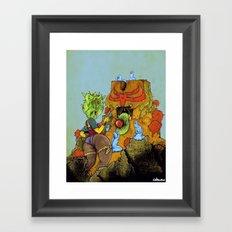 Feeding A Totem With Psychic Orb Framed Art Print