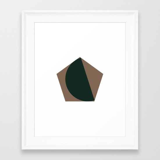 #302 Pretty fitting – Geometry Daily Framed Art Print