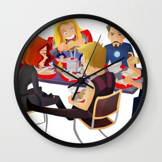 Avengers- Shawarma Wall Clock