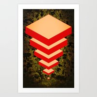 Spacially Separated Squares Art Print