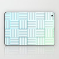 Woven Squares in Blue and Green Laptop & iPad Skin