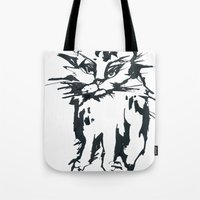 A Threatening Cat Tote Bag