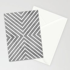 Stripes in Grey Stationery Cards