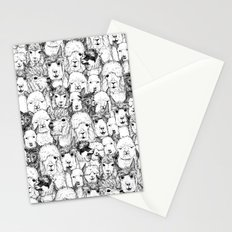 just alpacas black white Stationery Cards
