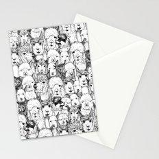 just alpacas black white Stationery Cards