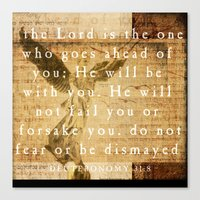 Deuteronomy 31:8 Canvas Print