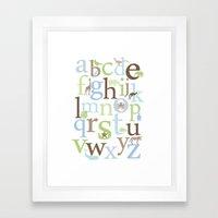 Alphabet Animals - Brody colorway Framed Art Print