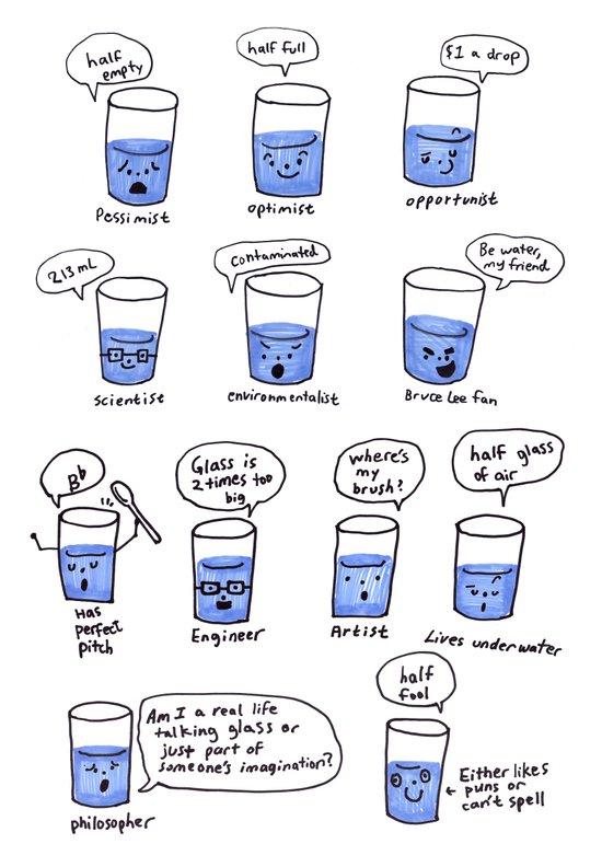 half a glass of water Art Print