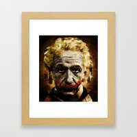 Einstein The Joker (Relatively Funny) Framed Art Print