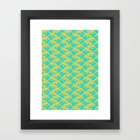 Flight: Blue Framed Art Print