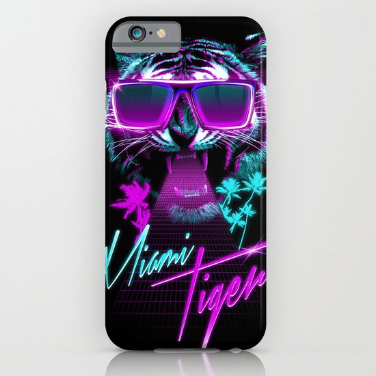 Miami Tiger iPhone & iPod Case