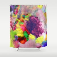 Colorful Smoke And Mirro… Shower Curtain