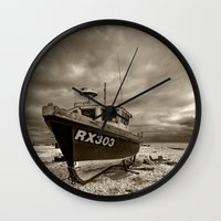 Dark Dungeness Wall Clock