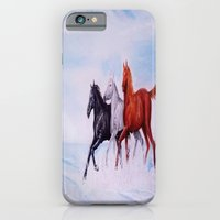 horses iPhone & iPod Cases featuring horses by shannon's art space