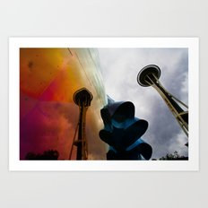 Space Needle Reflection Art Print