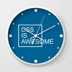 CSS Is Awesome Funny Quote Wall Clock