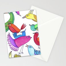 gossipy birds Stationery Cards
