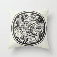 Cicrle Doodle Throw Pillow