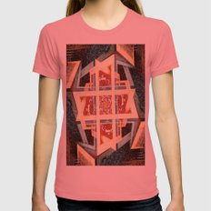 The Architect Womens Fitted Tee Pomegranate SMALL