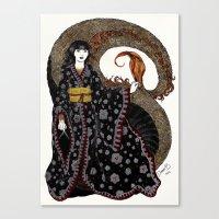 NU KUA - Chinesse Goddes… Canvas Print