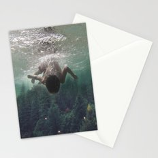 the level inside will rise Stationery Cards