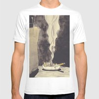 smokey Mens Fitted Tee White SMALL